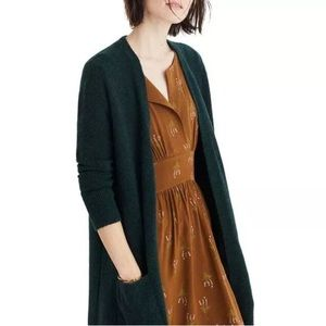 Madewell Kent Cardigan Open Front Long Duster Wool